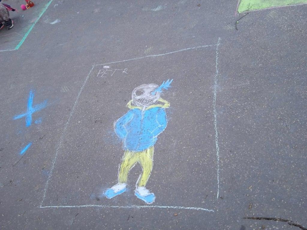 Malování na asfalt 30